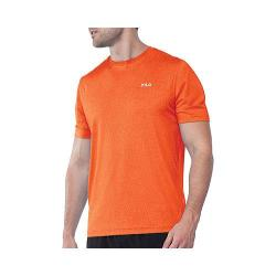 Men's Fila Heathered Short Sleeve Crew FM121P44 Cone Orange Heather