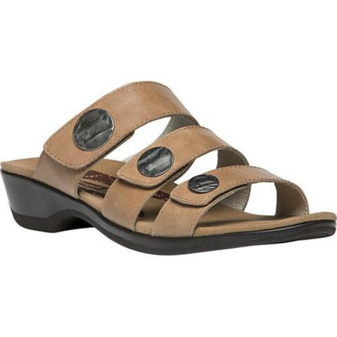 Women's Propet Annika Slide Oyster Patent Leather