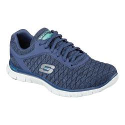Women's Skechers Flex Appeal Eye Catcher Training Shoe Navy