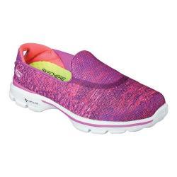 Women's Skechers GOwalk 3 Glisten Slip On Pink