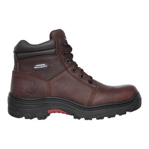 Men's Skechers Work Relaxed Fit Burgin Composite Toe Boot Dark Brown - Thumbnail 1
