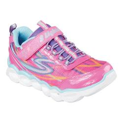 Girls' Skechers S Lights Lumos Sneaker Hot Pink/Multi