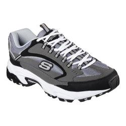 Men's Skechers Stamina Cutback Training Shoe Charcoal/Black