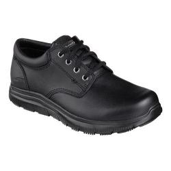 Men's Skechers Work Relaxed Fit Flex Advantage Prien SR Lace Up Black
