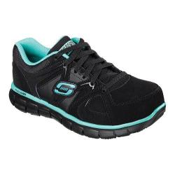 Women's Skechers Work Synergy Sandlot ST Black/Teal