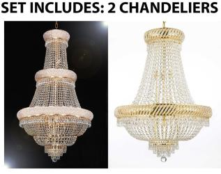 *Set Of 2* 1 for Entryway/Foyer & 1 for Dining Room French Empire Empress Chandelier Lighting - Thumbnail 0