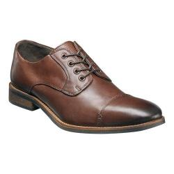 Men's Nunn Bush Holt Cap Toe Oxford Brown Leather