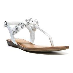 Women's Fergalicious Shelly Sandal White Synthetic Leather