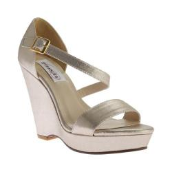 Women's Dyeables Karen Strappy Wedge Sandal Nude Shimmer