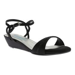 Women's Dyeables Mallory Wedge Black Satin