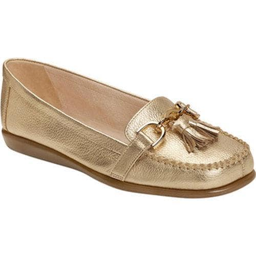 87ada1929153c Shop Women's Aerosoles Super Soft Slip-On Gold Leather - Free Shipping  Today - Overstock.com - 11168261
