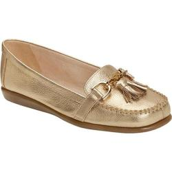 Women's Aerosoles Super Soft Slip-On Gold Leather