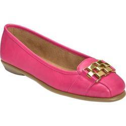 Women's Aerosoles Sure Bet Flat Pink Faux Leather