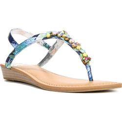 Women's Fergalicious Tasso Sandal Blue Synthetic Leather