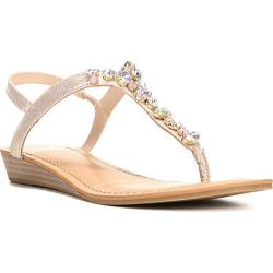 Women's Fergalicious Tasso Sandal Gold Synthetic Leather