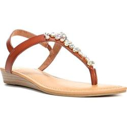 Women's Fergalicious Tasso Sandal Tan Synthetic Leather