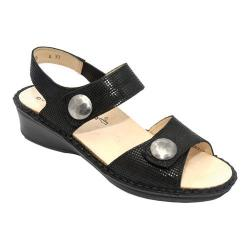 Women's Finn Comfort Alanya Black Points