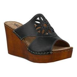 Women's Spring Step Beshka Slide Black Leather