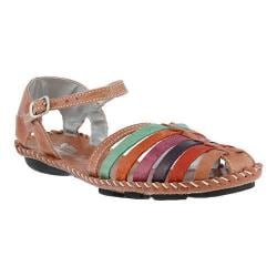 Women's Spring Step Chilton Closed Toe Sandal Rose Multi Leather