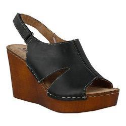 Women's Spring Step Chiquita Slingback Sandal Black Leather