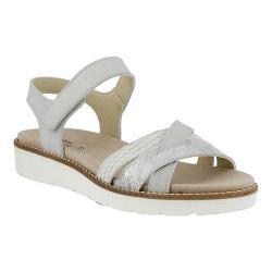 Women's Spring Step Elzira Quarter Strap Sandal Gray Leather