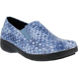 Women's Spring Step Ferrara Blue Basketweave Manmade