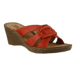 Women's Spring Step Idoia Slide Red Leather