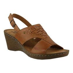 Women's Spring Step Katia Slingback Brown Leather