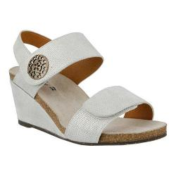 Women's Spring Step Naila Wedge Sandal Silver Leather