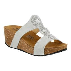 Women's Spring Step Tada Slide Off White Suede