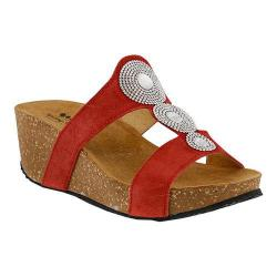 Women's Spring Step Tada Slide Red Suede