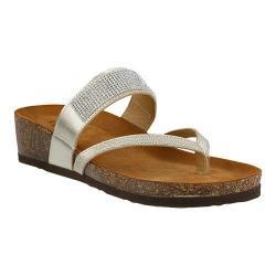 Women's Spring Step Vanja Thong Sandal Gold Leather