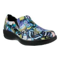 Women's Spring Step Winfrey Slip-On Blue Butterfly Leather