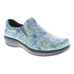 Women's Spring Step Winfrey Slip-On Blue Flower Leather