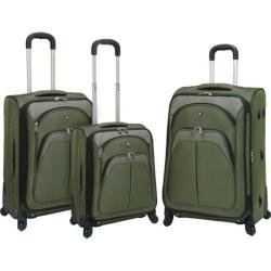 Travelers Club Lexington 3 Piece Expandable Luggage Set Green