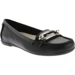 Women's Anne Klein Noris Loafer Black/Black Leather