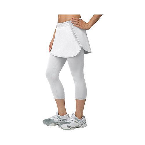 23a7e3605e54 Shop Women's Fila Net Set Skorty Capri White - Free Shipping Today -  Overstock - 11171343
