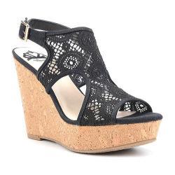 Women's Fergalicious Valeria Sandal Black Fabric