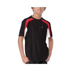 Boys' Fila Adrenaline Colorblock Crew Black/White/Chinese Red