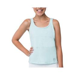 Girls' Fila Net Set Tank Top Aqua/White