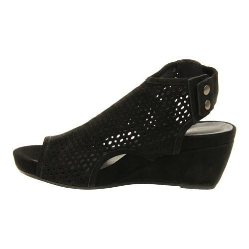 5eefb66b75 Shop Women's VANELi Inez Wedge Sandal Black Suede - Free Shipping Today -  Overstock - 11171359