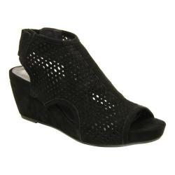 Women's VANELi Inez Wedge Sandal Black Suede