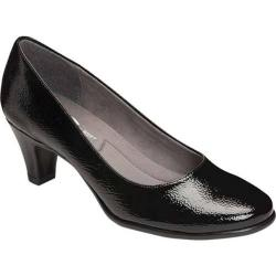 Women's A2 by Aerosoles Redwood Pump Black Faux Patent