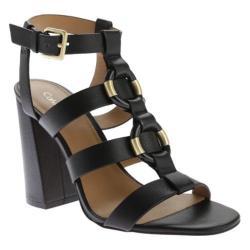 Women's Calvin Klein Lindy Sandal Black Cervo Leather