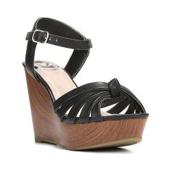 Women's Fergalicious Willa Sandal Black Synthetic Leather