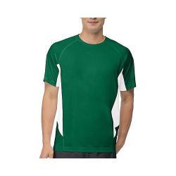 Men's Fila Core Color Blocked Crew Team Forest Green/White