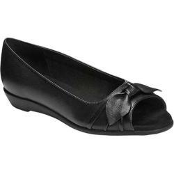 Women's Aerosoles Atta Girl Flat Black Leather