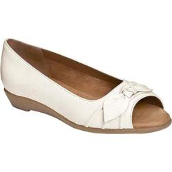 Women's Aerosoles Atta Girl Flat White Leather