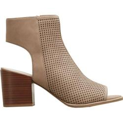 Women's Kenneth Cole New York Charlo Open Toe Bootie Beige Leather