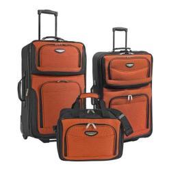 Traveler's Choice Amsterdam 3-Piece Travel Luggage Set Orange